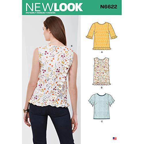 New Look N6622 Patron de couture pour femme Papier Blanc