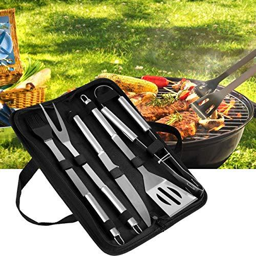 Grillbesteck Set, Edelstahl BBQ Tools Sets Kochutensilien Set BBQ Grill Tools Kit für Picknick, Grillset für Garten und Camping Grillzubehör BBQ für Männer und Frauen, Camping Barbecue Party