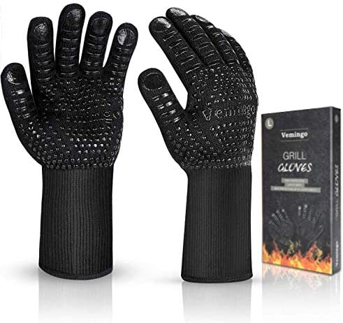 BBQ Gloves 1472 F Extreme Heat Resistant Ov Grill Gloves Heat Proof Fireproof Gloves Oven Mitts product image