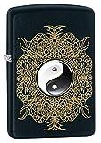 Zippo Yin & Yang Design Pocket Lighter, Black Matte