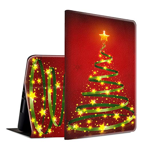 Galaxy Tab E 9.6 2015 (SM-T560/T561/T567) Tablet Case for Samsung,Spsun Lightweight Smart Shell PU Leather Protective Standing Cover with Auto Wake/Sleep Case for Tab E 9.6 inch,Red Christmas Tree