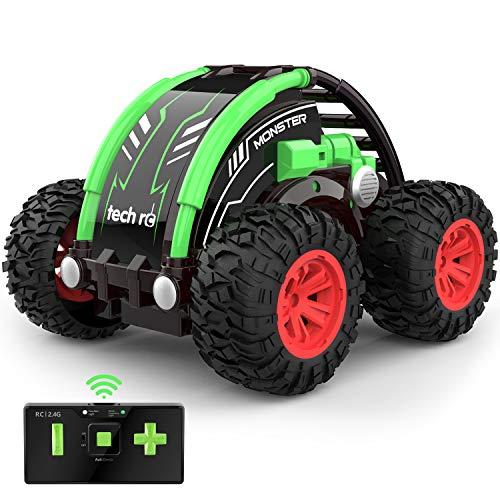 Mini Auto telecomandata 4WD con Batteria Ricaricabile Integrata RC Auto Telecomando Acrobatica RC Stunt Car 2.4GHz Macchina Radiocomandata Giocattoli per Bambini