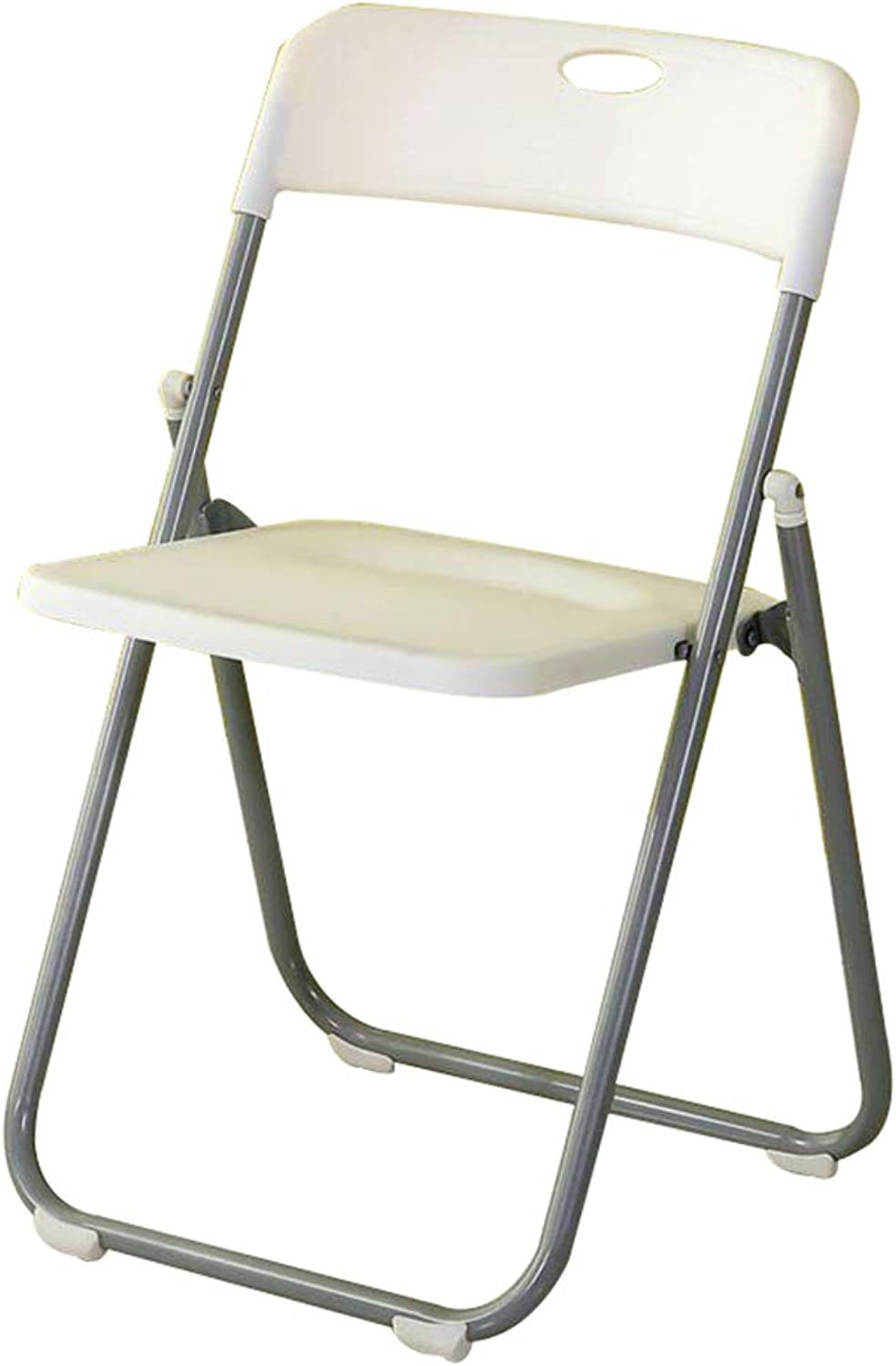 Stool - Folding Chair, Household dinette, Office Training Chair Bath Chair Meeting Room Chair (color   White)