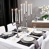 Gräfenstayn® Kerzenleuchter ALU 1, 3 oder 5-armig - 40/60/80cm - Silber, Schwarz, Weiß, Gold (Schwarz, 60cm) - 3