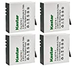 Kastar 4-Pack Battery Replacement for Xiaomi YI AZ16-1, Xiaomi YI AZ16-2 Battery, Xiaomi Yi 4K, Xiaomi Yi 4K+, Xiaomi Yi Lite, Xiaomi YI 360 VR Sport Action Camera Camcorder