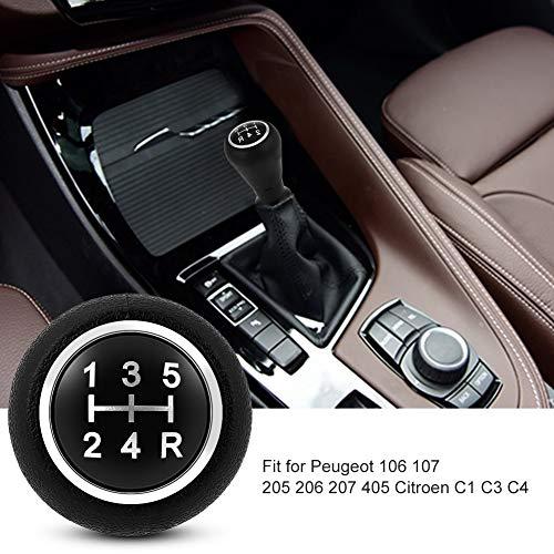 Shift Knob 5 Speed, Gear Shift Knob Head Car Auto Manual/Automatic Interior Gear Stick Shifter Lever Knob Fit for 106 107 205 206 207 405 Citroen C1 C3 C4