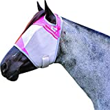 Cashel Crusader Standard Fly Mask with Pink Trim, Benefits Breast Cancer - Size: Warmblood