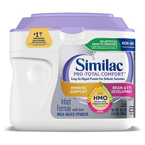 Similac Pro-Total Comfort Non-GMO Infant Formula Powder, 22.5 oz Tub