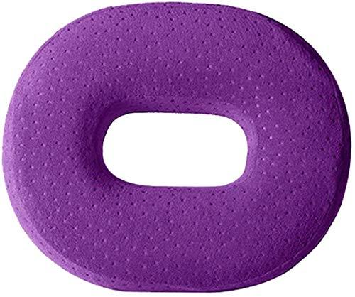 Rollstuhl-Memory-Schaumkissen, orthopädisches Kissen, Autositz, weich atmungsaktiv, um den Rückzug zurückzulindert, Skiatika, geeignet für Bürostühle,Purple