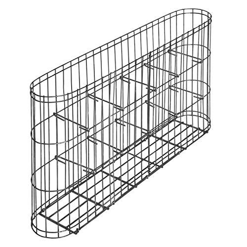 bellissa Gabione LEONARDO - 95555 - Vielseitiger Steinkorb für den Garten als Zaun oder Begrenzungs-Mauer - fertig montiert - 58 x 10 x 30 cm
