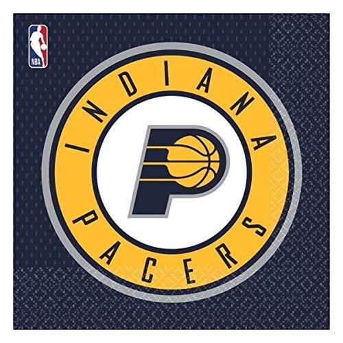 NBA Indiana Pacers 7AM5136151 - Servilleta (33 x 33 cm, 16 unidades), multicolor
