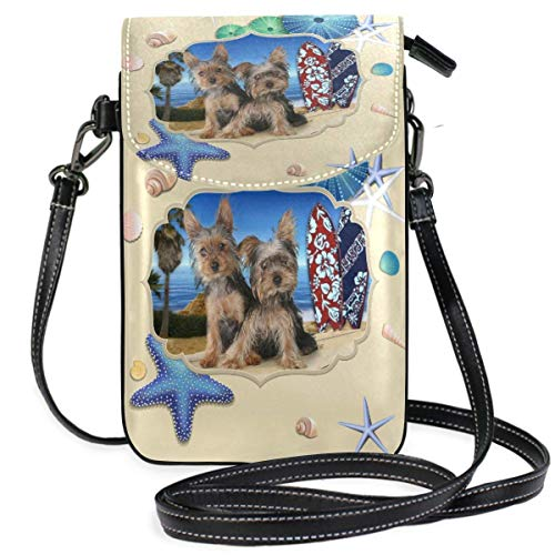 XCNGG Yorkshire Terrier Cell Phone Purse Wallet for Women Girl Small Crossbody Purse Bags