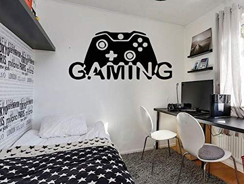 Gamer Muursticker Xbox One Controller PS4 Stickers Home Decor aangepast voor kinderen slaapkamer Vinyl Wall Art 87i