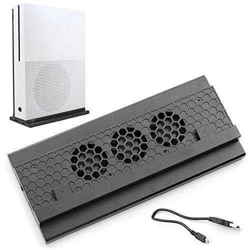Soporte de enfriamiento vertical ADZ Xbox One S, 3 ventiladores y 2 puertos USB HUB para carga y transferencia de datos