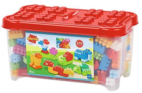 Ecoiffier – Abrick Bausteine-Box – 275-teiliges Set mit Tier-Bauklötzen, in Bausteinebox, für Kinder und Kleinkinder ab 18 Monaten