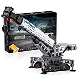 GRJKZYAM Kid Electric Assembly Educational Toys, App Remote Control Crane Truck Toy Building Set, Full Functional Transport Construction Vehicles with Motor