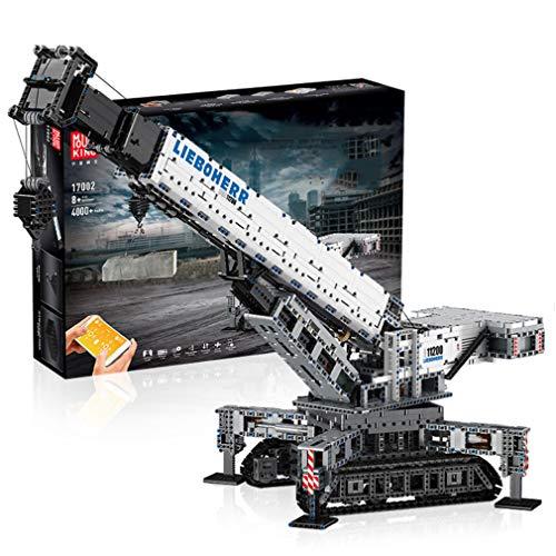 GRJKZYAM Kid Electric Assembly Educational Toys, APP Remote Control Crane Truck Toy Building Set, Full...