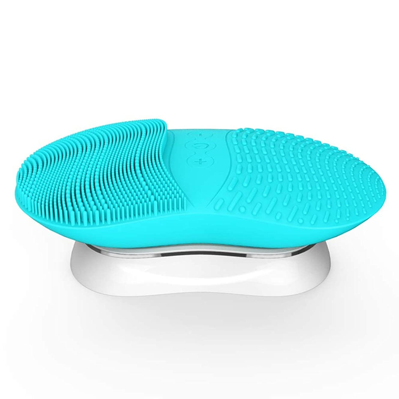 ローズ虐待素人ZXF 新ワイヤレス充電シリコンクレンジングブラシ超音波振動ディープクリーン防水暖かさクレンジング美容機器クレンジング機器 滑らかである