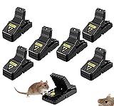 Trampa para ratones Trampa para ratones eficiente y sensible Trampa para ratones reutilizable Juego de 6 piezas de trampa para ratones para cocina interior y jardín doméstico