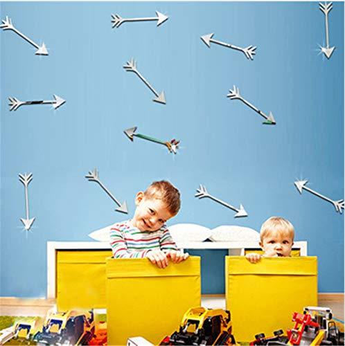 Waofe Nordischer Pfeil-Acryl-Gespiegelter Dekorativer Aufkleber-Spiegel-Wand-Aufkleber Für Kinderzimmer-Schlafzimmer-Spiegel-Wand-Dekorwandaufkleber
