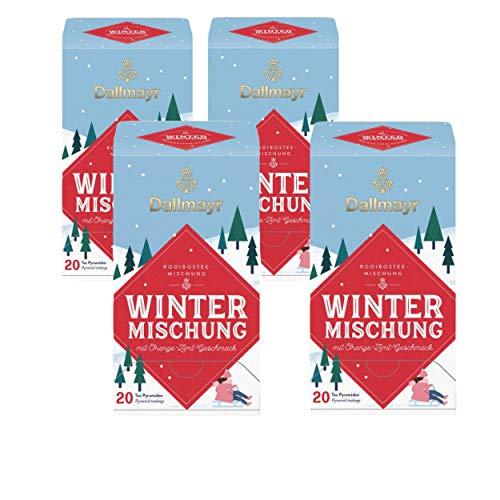Dallmayr Rooibostee-Mischung - Wintermischung - mit Orange-Zimt-Geschmack - 4x20 Tee Pyramiden