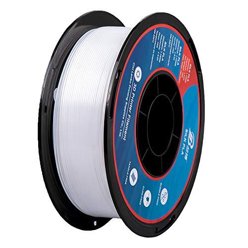 Silk PLA filament 1.75mm, 3D printer filament, 1kg Spool, Dimensional Accuracy +/- 0.02mm-White
