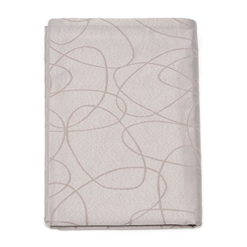 BgEurope, tovaglia di lusso color argento con trattamento anti-macchie, dimensioni grandi, Design con fantasia di linee., 20% poliestere/80% cotone/ cotone/poliestere, Silver, 59 x 118' (150 x 300cm)