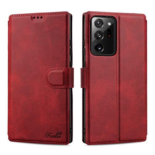 Keallce für Samsung Galaxy Note 20 Ultra Hülle, Handy Lederhülle PU Leder Hülle Brieftasche Handytasche Cover Kompatibel für Samsung Galaxy Note20 Ultra 5G Ledertasche-6.9