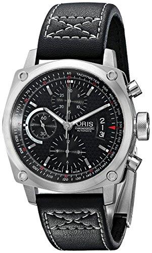 Oris Reloj cronógrafo para Hombre 4154LS BC4 con Correa de Cuero de Acero Inoxidable
