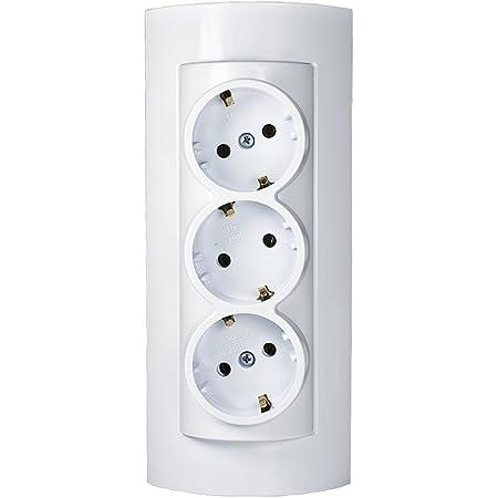 Atra - Enchufe combinado (3 enchufes en un solo dispositivo)