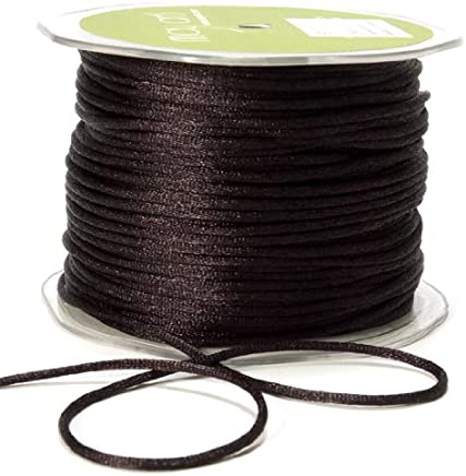 5mm barley twist corde Noir x 20 mètres rouleau