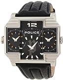 Police PL-13088JS/02 - Orologio da polso, cinturino in pelle colore nero