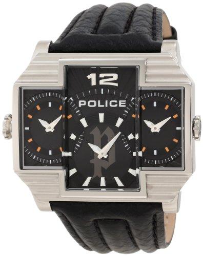 Police PL-13088JS/02 - Reloj, Correa de Cuero Color Negro