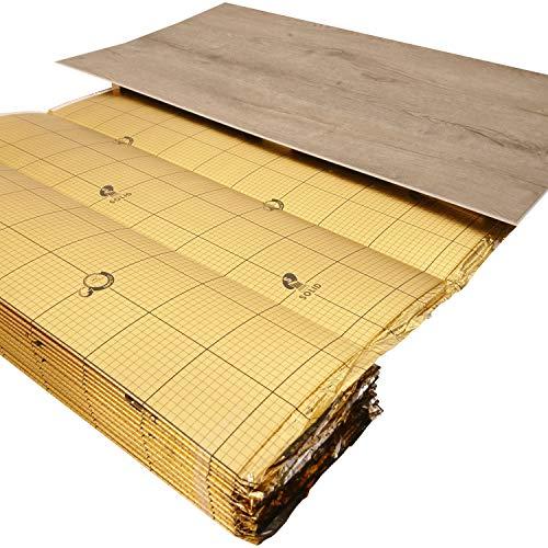 """uficell® Vinyl Trittschalldämmung\""""VINOLOCK\"""" mit Anti-Slip-Technologie [10 m² - 1 Rolle] - Stärke: 1,5 mm - Dichte ca. 100 kg/m³ - Druckstabilität: 200 kPa - Gutes Preisleistungsverhältnis"""
