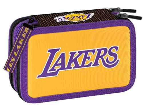 Panini NBA LAKERS - Estuche con tres cremalleras completo de papelería Novedad 2021 2022