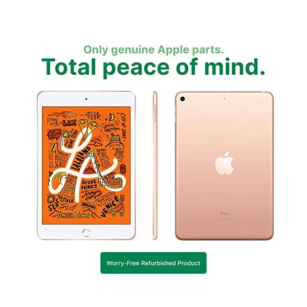 "Apple iPad Mini   7.9""   5th GEN   WI-FI   64GB   Gold   2019   (Renewed) 3"