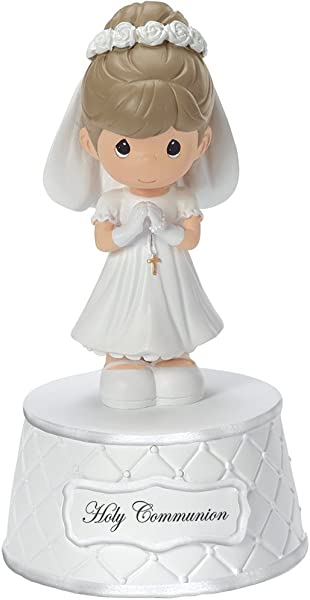 Precious Moments Holy Communion Music Box Plays The Lord S Prayer Resin For Girl 153502