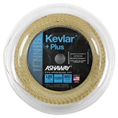 The Ashaway Kevlar Plus 1.25/17G 720 Foot Tennis String Reel Maximum durability Hybrid construction Filaments to enhance playability Size - (See Description) | Color - (Natural)