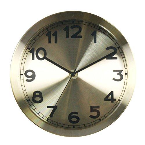 sans alimentation SDFN-Horloge de pendule quartz rose cr/éatif r/étro-idyllique europ/éen silencieux murale horloge ,BlancCadeau de cadeau de No/ël de vacances dami cadeau