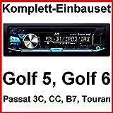 Komplett-Set Golf 5 6 Passat 3C CC Touran JVC KD-DB97BT Autoradio USB DAB