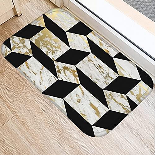 OPLJ Alfombra de Puerta de Entrada de Cocina con Estampado geométrico de mármol, Alfombrillas de Suelo para Interiores, Alfombrilla Antideslizante para Puerta, Alfombra A8 40x60cm
