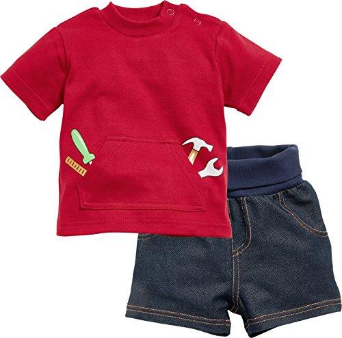 Schnizler Anzug-Set 2-teilig Interlock Heimwerker T-Shirt, Bleu (Blue 7), 3-6 Mois (Taille Fabricant:68) Mixte bébé
