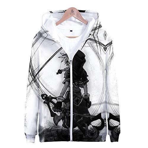 luozeshu Kingdom Hearts Zipper Hoodies Unisexe Jacket Pull 3D Print Sora Kairi Zip Up Outwear Coat for Adults Kids