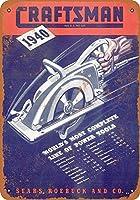 ブリキ看板1940職人パワーツールグッズウォールアート