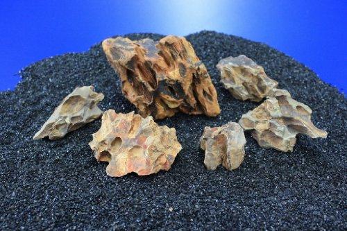 WFW wasserflora Nano Stone Drachensteine - Set mit 5 bis 7 Steinen, Ohko Rock