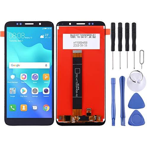 H-HX Display Reparaturset, LCD-Display und Digitizer Vollversammlung for Huawei Y5 Prime (2018) (Schwarz) (Color : Black)