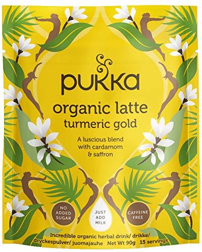 Pukka Turmeric Gold, Organic Herbal Latte with Cardamom & Saffron - Pack of 4