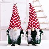 yscharm - Juego de 2 figuras nórdicas de Papá Noel escandinavo, diseño de...