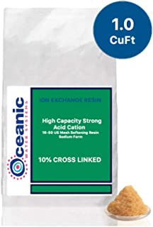 Water Softening Resin Upgraded 10% Cross Linked 100% Ion Exchange High Capacity Replacement Softener Resin - Cubic Ft (1.0 Cubic Ft)