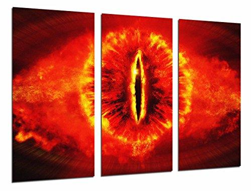Wandbild - Herr der Ringe, Auge des Feuers, Sauron, 97 x 62 cm, Holzdruck - XXL Format - Kunstdruck, ref.26583